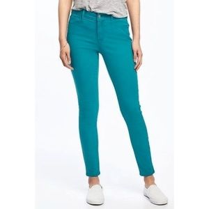Old Navy Teal Rockstar Mid-Rise Jeans 16